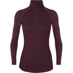 Icebreaker 200 Zone LS Half Zip Shirt Women velvet/prism